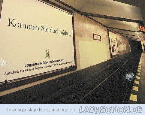 "Graffiti ""Kommen Sie doch näher"", (c) 2014 lachschon.de"