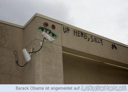 """Graffiti """"Neues von den Kameras"""", (c) 2014 lachschon.de"""