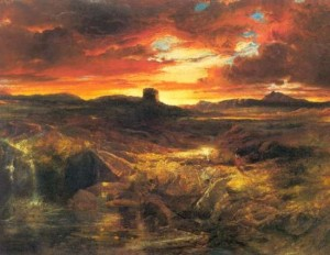 """Child Roland to the Dark Tower came"" von Thomas Moran (1859)"