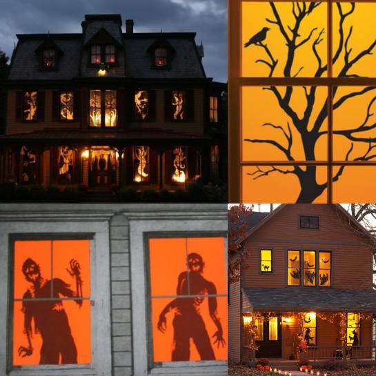 Halloween Dekoration: Scherenschnitte, (c) 2014 hausdekoration.org
