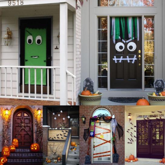 Halloween Dekoration: Haustür, (c) 2014 www.homedit.com