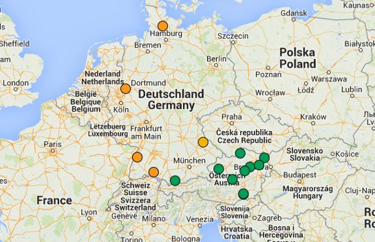 Baumkreise in Deutschland und Österreich