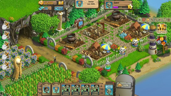 "Spiel ""World of Zombies"", Screenshot"