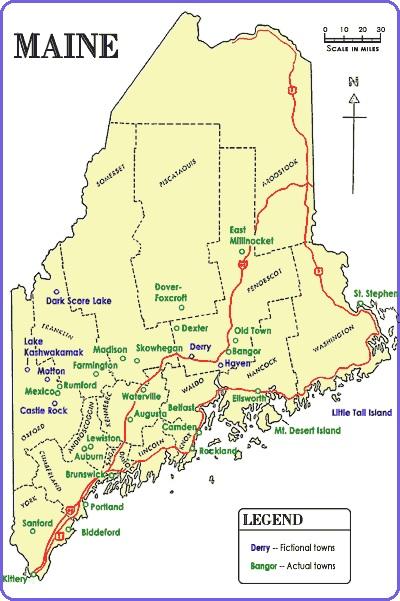 "Kingwiki: ""Fiktives Maine nach Stephen King"", (c) wiki.stephen-king.de"