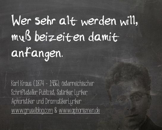 Zitat K. Kraus (20. Jh)