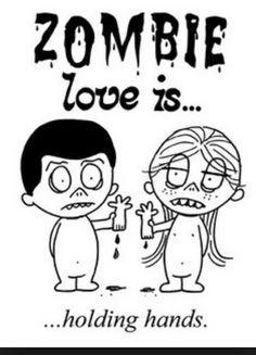 Zombie Love is..., (c) 2014 www.pinterest.com/cas15922/love-is-3/