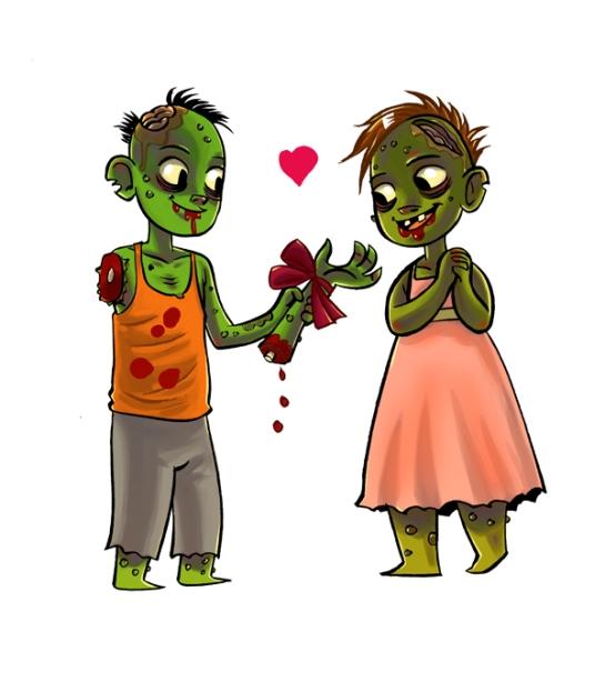 Zombie Love, (c) 2014 damnskippy.deviantart.com