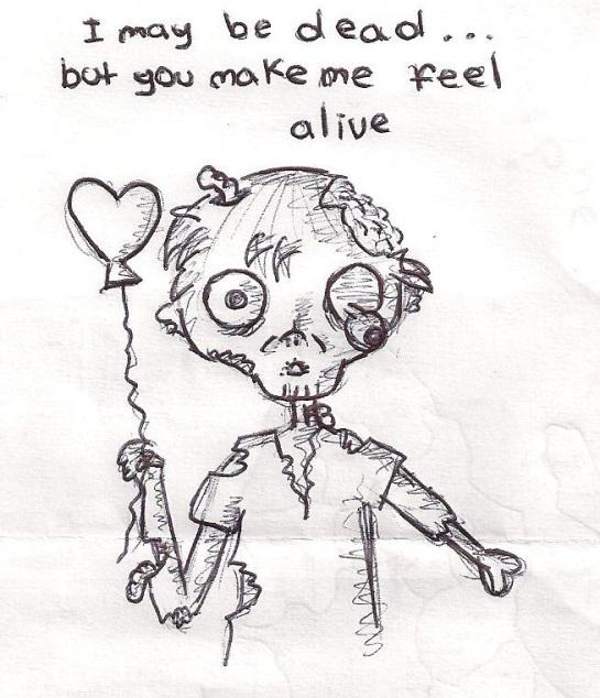 Zombie Love, (c) 2014 penguin-siren.deviantart.com