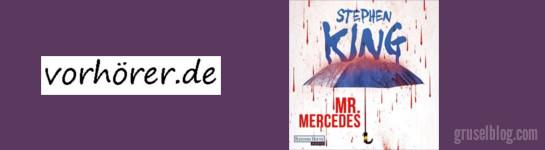 """Vorhörer Gewinnspiel """"Mr. Mercedes"""" Hörbuch von Stephen King, CropTop (c) 2014 vorhoerer.de"""