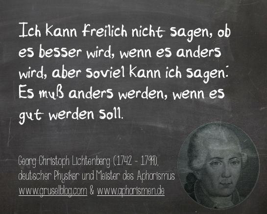 Zitat G. C. Lichtenberg (18. Jh)
