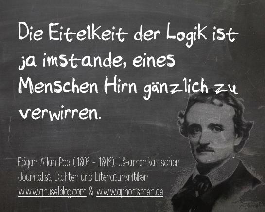 Zitat E. A. Poe (19. Jh)