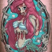 """Famous Zombie """"Arielle"""", (c) www.wackyowl.com"""