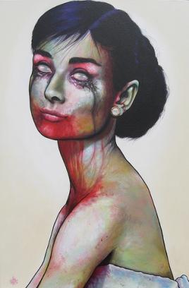 "Famous Zombie ""Audreay Hepburn"", (c) www.zootpatrol.com"