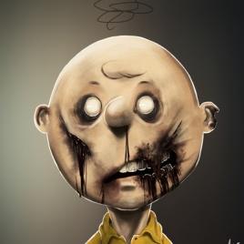 """Famous Zombie Comic """"Charlie Brown"""", (c) www.gadgetfeast.com"""