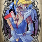 """Famous Zombie """"Cinderella"""", (c) www.wackyowl.com"""