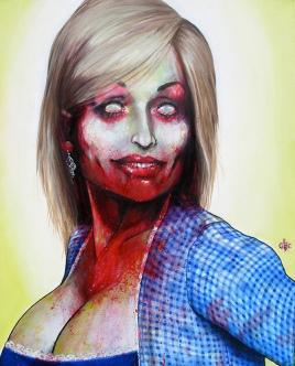 """Famous Zombie """"Dolly Parton"""", (c) www.zootpatrol.com"""