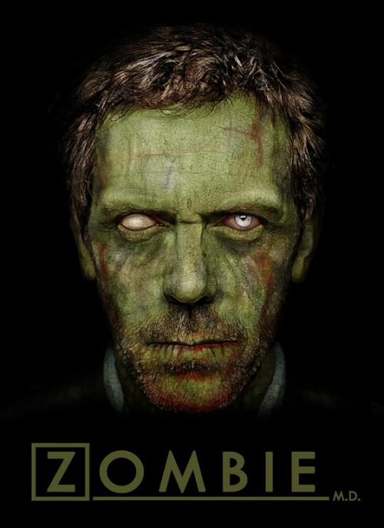 """Famous Zombie """"Dr. House"""", (c) Daniel A. Nardes, www.bloodyloud.com"""