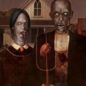 "Famous Zombie ""Grant Wood"", (c) survivingthedead.wordpress.com"