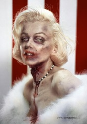 "Famous Zombie ""Marilyn Monroe"", (c) www.puyahumana.es/"