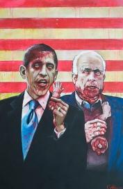 """Famous Zombie """"Obama / McCain"""", (c) www.zootpatrol.com"""