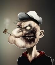 """Famous Zombie Comic """"Popeye"""", (c) www.gadgetfeast.com"""