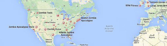 "Google Maps ""Zombie Apokalypse"", CropTop"
